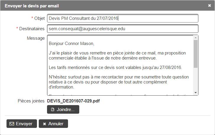 logiciels sur-mesure envoi de mails